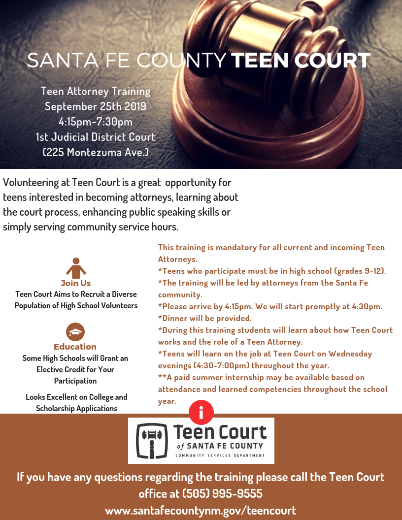 Teen Attorney Training
